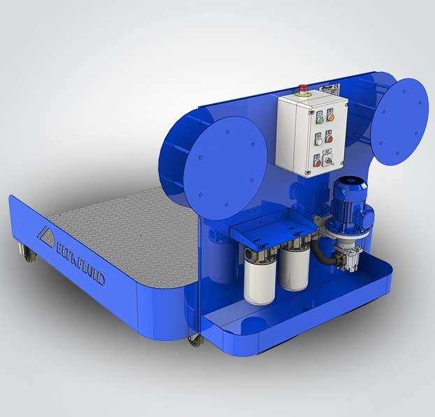 fluidcare pulizia olio nuovo -carrello dialisi porta contenitori