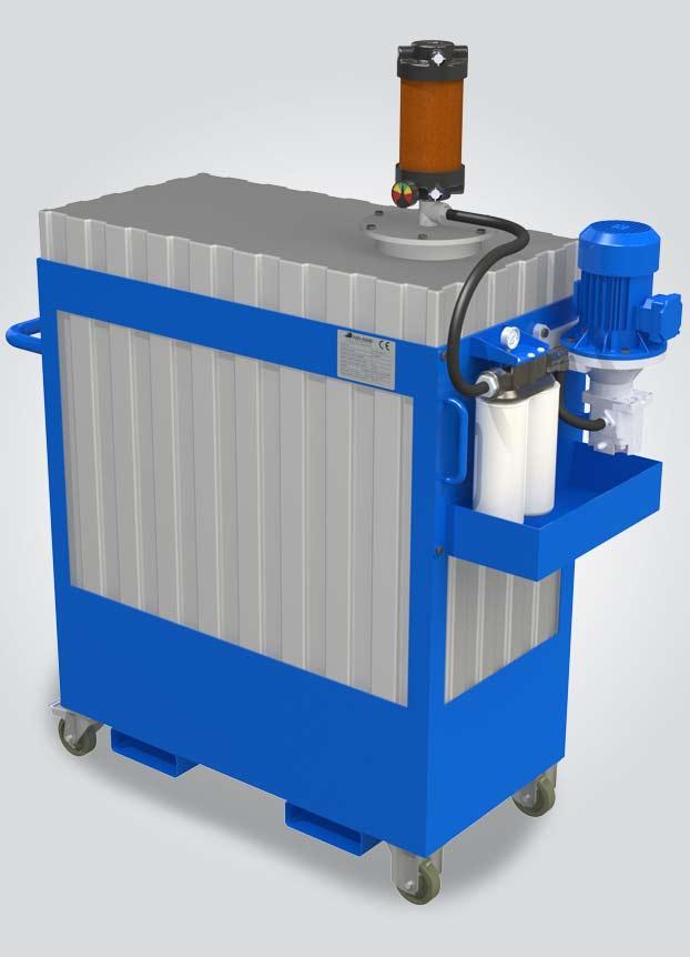 fluidcare pulizia olio nuovo -serbatoio sistema dialisi integrato
